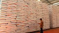 Stok beras (Foto:Liputan6.com/Dian Kurniawan)