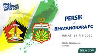 Piala Gubernur Jatim 2020: Persik Kediri vs Bhayangkara FC. (Bola.com/Dody Iryawan)