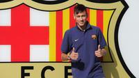 Neymar bergabung dari Santos ke Barcelona pada musim panas 2013. (AFP/Josep Lago)