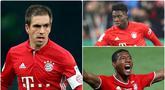 Alphonso Davies menjadi salah satu pemain yang tampil memukau di lini pertahan Bayern Munchen di kompetisi Liga Jerman dan Liga Champions 2019/2020. Selain Davies, Bayern Munchen dikenal memiliki bek tangguh lainnya. Berikut 5 bek terbaik Bayern Munchen. (kolase foto AP)