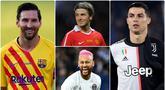 Cristiano Ronaldo menjadi satu diantara pesepak bola paling populer di dunia media sosial. Selain Ronaldo, ada beberapa  pemain dan pensiunan sepak bola dengan followers terbanyak. Berikut Cristiano Ronaldo dan 5 bintang paling populer di media sosial. (kolase foto AFP)