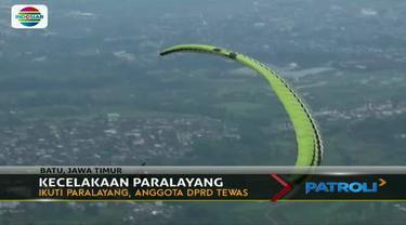 Diduga korban tidak mampu mengendalikan parasut saat turbulensi hingga terjatuh.