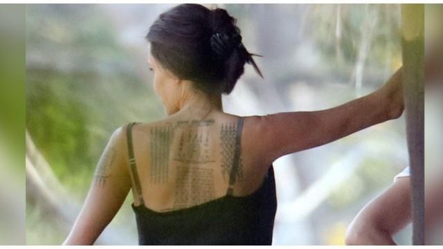 Tato terbaru Jolie kabarnya dikerjakan oleh seniman tato asal Bangkok.