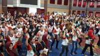 Ratusan Remaja GenRe (Generasi Berencana) Indonesia mengikuti kegiatan GenRevolution BerTeman yang digelar BKKBN dalam rangka Peringatan Hari Keluarga Nasional 2018.