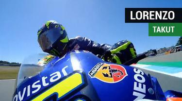 Jorge Lorenzo mengaku mengalami momen menakutkan saat ditabrak Jorge Lorenzo dari belakang pada balapan MotoGP Belanda 2018.