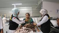 Jemaah haji sedang menjalani perawatan di KKHI, Madinah. Darmawan/MCH 2019