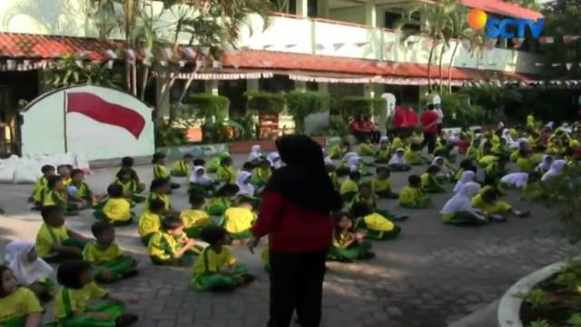 Aktivitas belajar mengajar di SD Negeri 01 Tanjung Duren kembali seperti biasa usai terjadi penculikan.