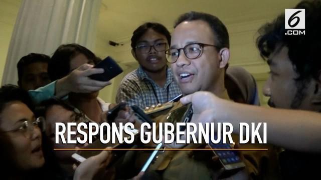 Gubernur DKI Anies Baswedan memberi komentar terkait rekomendasi Ombudsman soal penutupan Jalan Jatibaru
