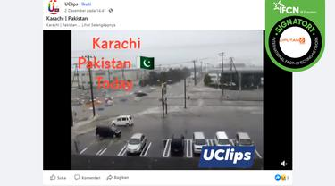 Klaim video tsunami di Pakistan