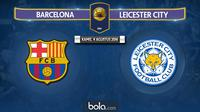 Barcelona Vs Leicester City (Bola.com/Adreanus Titus)