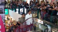 Presiden Jokowi mendatangi mal di Malang.
