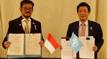 Perkuat Leadership Indonesia di Kancah Internasional, Mentan SYL Teken MoU dengan FAO