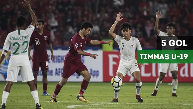 Berita video gol-gol yang dicetak Timnas Indonesia U-19 ke gawang Qatar U-19 pada laga kedua Grup A Piala AFC U-19 2018 di Stadion Utama Gelora Bung Karno (SUGBK), Senayan, Jakarta, Minggu (21/10/2018).