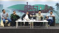 """Diskusi Empat Pilar MPR bertajuk """"Musyawarah Mufakat untuk Pimpinan MPR"""", di Media Center Gedung DPR RI, Jakarta. (Liputan6.com/Moch Harun Syah)"""