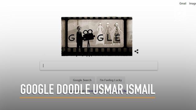 Google Doodle edisi Selasa (20/3/2018) kali ini merayakan ulang tahun ke-97 Usmar Ismail, dalam ilustrasi vintage pria berkacamata dengan sebuah kamera perekam.