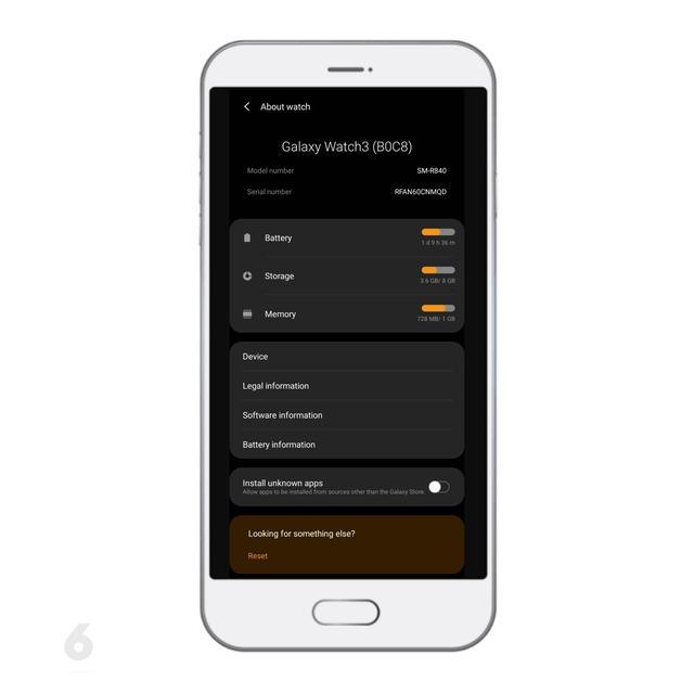 Status Perangkat Galaxy Watch3. Liputan6.com/Mochamad Wahyu Hidayat