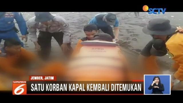 Tim SAR Gabungan, Jumat (20/7) pagi kembali temukan korban terbaliknya kapal Joko Berek, atas nama Budi, warga Dusun Mandaran.