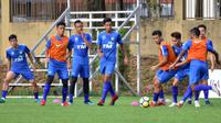Timnas Malaysia U-23 proyeksi Asian Games 2018 saat latihan di Kuala Lumpur. (Bola.com/Dok. FA Malaysia)