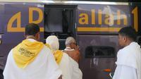 Jemaah Haji Indonesia saat baru tiba di Bandara King Abdul Aziz, Jeddah. Darmawan/MCH