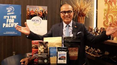 Pacific Exposition 2021 akan digelar 27 - 30 Oktober 2021 secara virtual. Indonesia tampilkan 6 provinsi dalam ajang perdagangan, investasi dan pariwisata terbesar dan terlengkap di Pasifik ini.