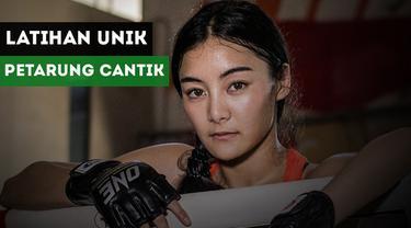 Petarung cantik asal Thailand, Rika Ishige miliki cara berlatih yang menggemaskan.