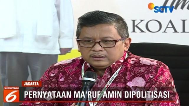 Menurut Ma'ruf Amin, pernyataannya tidak bermaksud untuk menyinggung penyandang disabilitas.