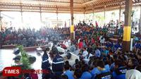 Festival Perdamaian yang bertempat di Wantilan DPRD Provinsi Bali, dihadiri oleh ratusan mahasiswa dan pelajar. Minggu (9/9/2018). (FOTO: Khadafi/TIMES Indonesia)