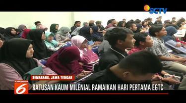 Ratusan kaum milenial ramaikan hari pertama Emtek Goes To Campus 2018 di Universitas Negeri Semarang.