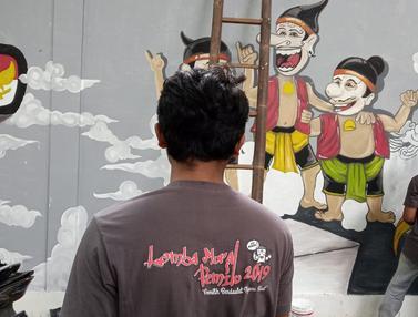 Warna-warni Mural Pemilu di Semarang