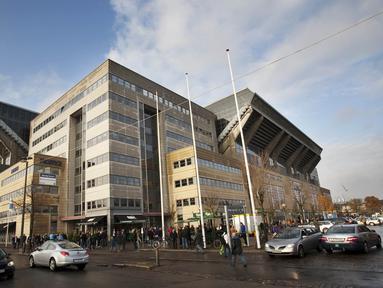 Denmark menjadi salah satu di antara negara yang dapat kehormatan jadi penyelenggara Piala Eropa 2020. Stadion yang akan digunakan adalah Parken Stadium yang terletak di Copenhagen. (AFP/Andreas Hillergren)