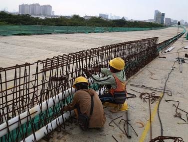 Konstruksi Jalan Tol Layang Kelapa Gading