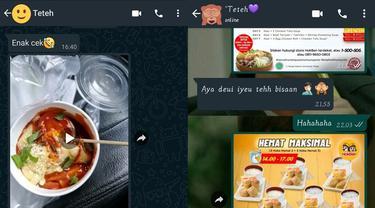 6 Chat Kakak dan Adik saat Bahas Makanan Ini Bikin Gemas