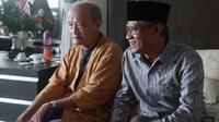 Ketum PP Muhammadiyah Haedar Nashir menjenguk Syafii Maarif di RS PKU Gamping Sleman (Liputan6.com /Switzy Sabandar)
