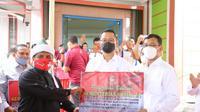 Menteri Sosial Juliari P. Batubara di Simalungun, Kamis (12/11).