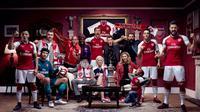Arsenal merilis jersey baru untuk musim 2017-2018.