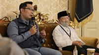 Gubernur Jawa Barat Ridwan Kamil saat menghadiri Rapat Evaluasi dan Monitoring bersama Gugus Tugas Covid-19 Cianjuar di Pendopo Bupati Cianjur, Jumat (24/7/2020). (Foto: Humas Jabar)