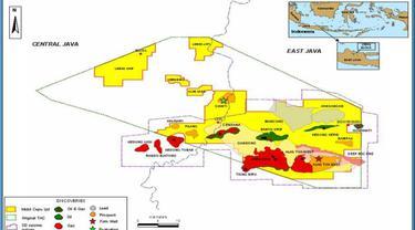 Peta Wilayah Kerja Pertambangan (WKP) Blok Cepu