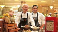 Pakar kuliner Indonesia, William Wongso di Shangri-La Hotel, Jakarta (Liputan6/pool/Shangri-La Jakarta)