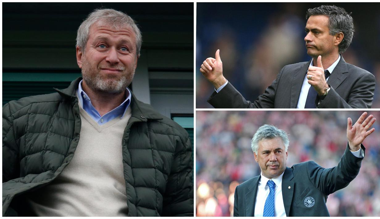 Sudah 16 tahun Roman Abramovich menjadi pemilik Chelsea. Berikut tujuh pelatih terbaik The Blues di era Roman Emperor. (Kolase foto-foto dari AFP)