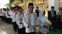 Sejumlah pasangan menikah massal di Kejaksaan Agung