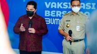Kementerian BUMN, Kementerian Kesehatan, Pemda DKI, dan Indonesia Healthcare Corporation melakukan kolaborasi untuk meluncurkan Sentra Vaksinasi Covid-19 di Istora Senayan (dok: KBUMN)