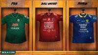 Liga 1 - Kostum dengan Banyak Sponsor (Bola.com/Adreanus Titus)