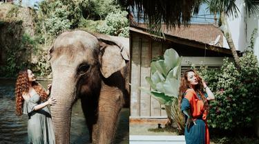 Momen Liburan Siti Badriah di Bali, Outfitnya Curi Perhatian