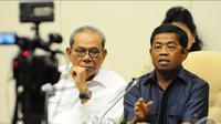 Sekjen DPP Partai Golkar Idrus Marham menjelaskan bahwa secara keseluruhan Munas Golkar berjalan lancar dan produktif dilihat dari sisi manapun tidak ada cacat, Jakarta, Jumat (5/12/2014). (Liputan6.com/Andrian M Tunay)