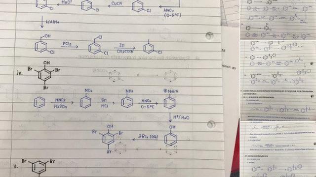 tulisan tangan siswa malaysia jadi viral (foto: Twitter @rhmtdnlrsmn)