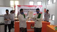 Paslon Pilkada Kabupaten Rembang nomor urut 01 Harno-Bayu Andriyanto (Liputan6.com/Ahmad Adirin)