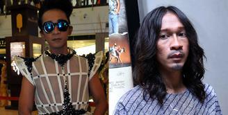 Selama ini, Aming dikenal sering berganti-ganti penampilannya. Entah rambut ataupun pakaiannya yang mirip perempuan. (Panji Diksana/Liputan6 & Nurwahyunan Bintang.com)