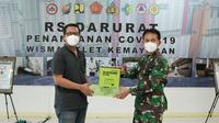 Tekiro memberikan bantuan seperangkat tools untuk RS Darurat Wisma Atlet, Kemayoran, Jakarta. (Foto: Dok. Tekiro)