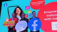 Presdir & CEO Indosat Ooredoo, Ahmad Al-Neama (kiri), Dirjen Aptika Kemkominfo, Semuel A. Pangerapan (tengah),  Facebook's VP of Mobile Partnerships, Fransisco Varela (kanan). Liputan6.com/Agustinus Mario Damar