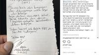 Kunjungan tersebut ditunjukkan AHY melalui foto pernyataan dari Ahok di atas selembar kertas yang diunggah ke akun Instagramnya. (@agusyudhoyono)